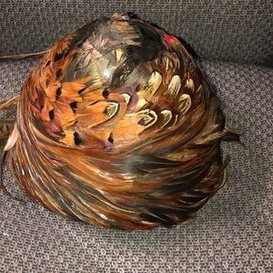 Vintage Wiltshire peacock hat head piece